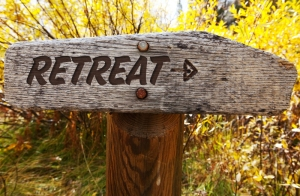 Retreat - that way!